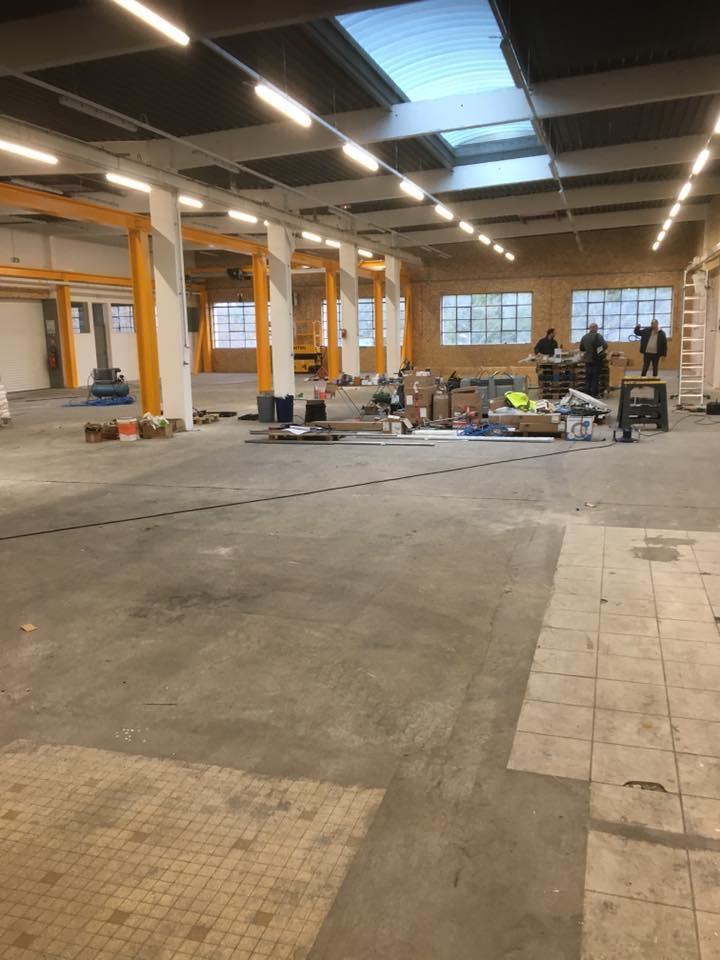 Rénovation Atelier 69 - Sol Epoxy - Avant